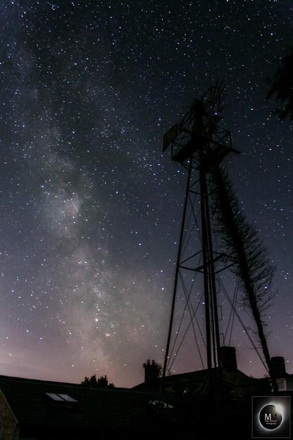 Milky Way & Wind Turbine from Oxfordshire 04/08/18