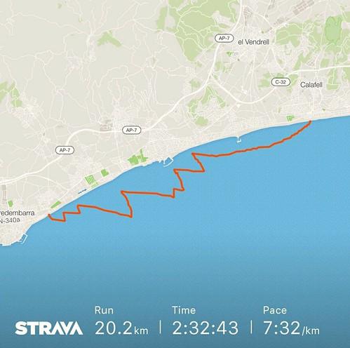 Track de l'anada Calafell-Torredembarra.