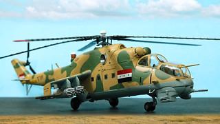 9112: Trumpeter 1:72 Iraq Air Force Mil Mi-24 Hind.