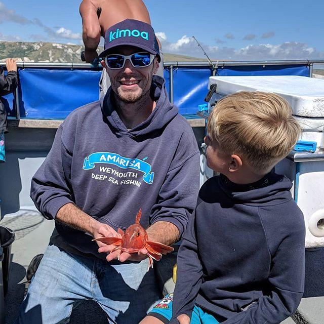 First gurnard of the afternoon 4-hour trip #amarisaweymouth #redgurnard #fishingtrip #fishinguk