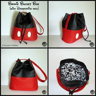 Mickey Inspired Bonnie Bucket Bag