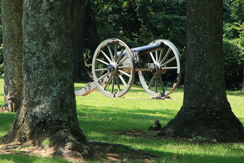 Civil War Cannon among the Trees, Prairie Grove Battlefield State Park - Washington County, Arkansas