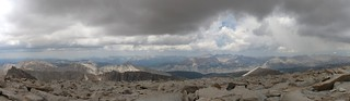 1630 Panorama view to the west from the summit of Mount Whitney as the clouds above us get darker | by _JFR_