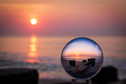 water bayhead ocean crystalball sunrise beach newjersey unitedstates us