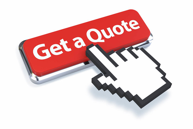 Get a Quote Button with 3D Mouse Pointer