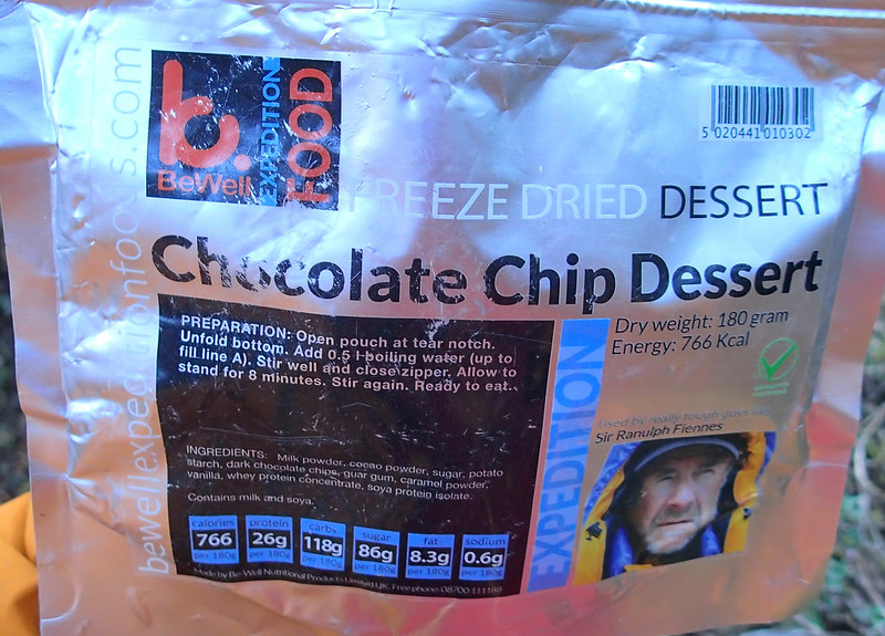 Mon, 2018-07-30 17:39 - Dehydrated Chocolate Chip Dessert package
