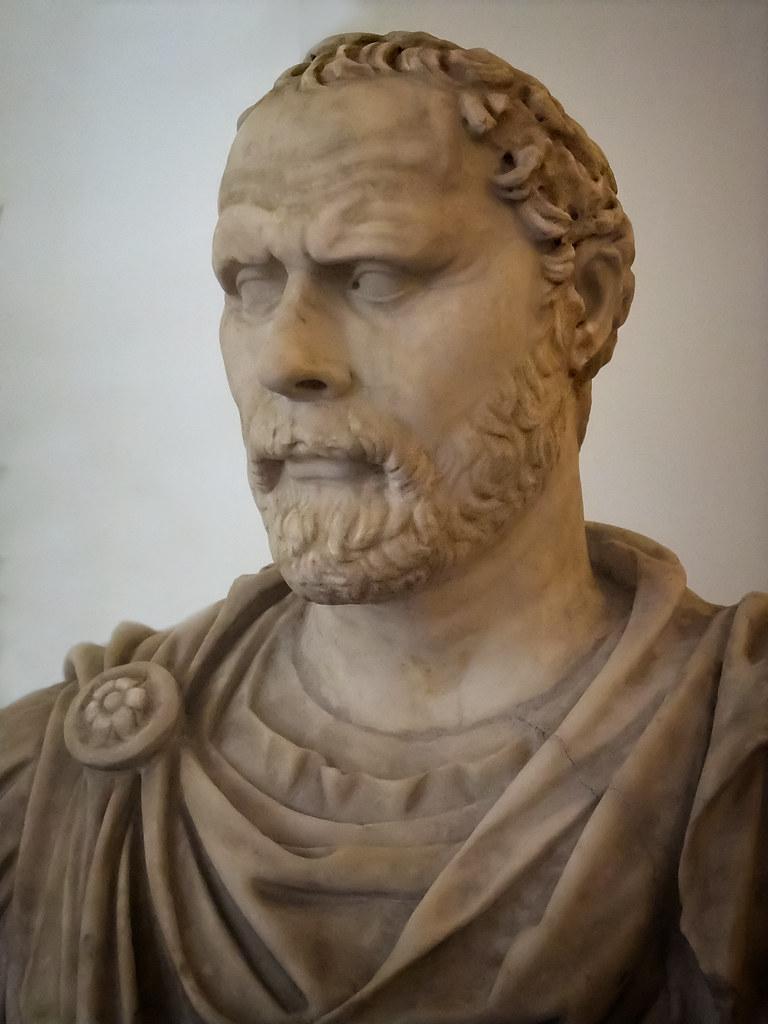 Greek Statesman and Orator Demosthenes Roman copy of 4th century BCE original