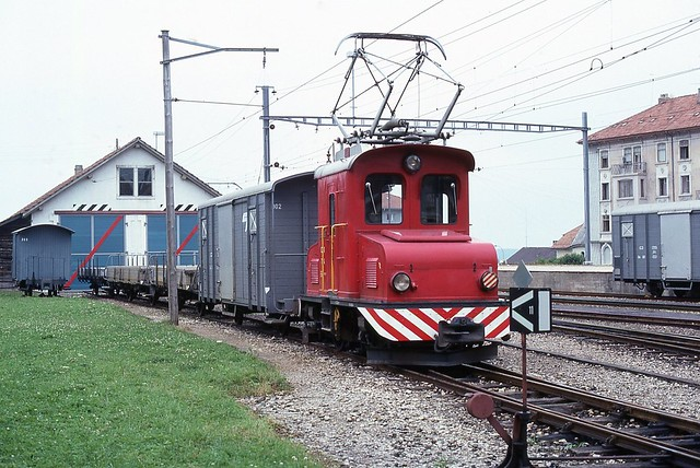 Trains du C.J. Chemin de Fer du Jura (Suisse)