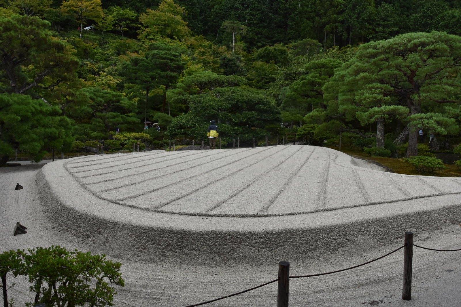 Kyôtô - Ginkaku-ji, le Pavillon d'Argent: jardin sec