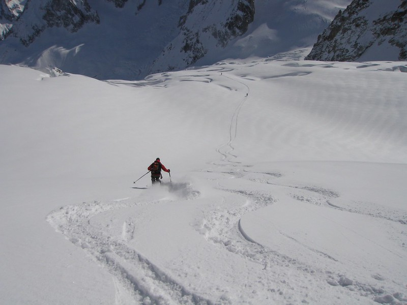 Petits Envers. This variant is more crevassed than the standard and a tad steeper too.