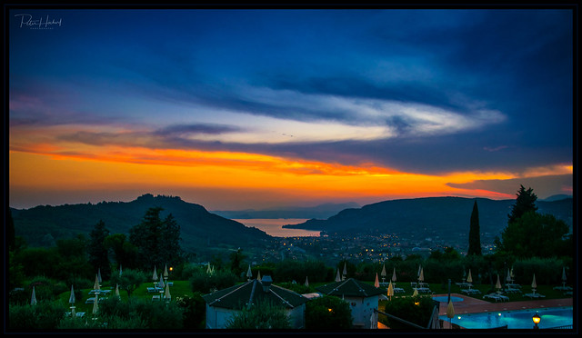 sunset over the lago di Garda