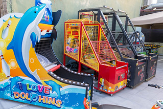 Different arcade game machines for kids at Afytos Park | by marcoverch
