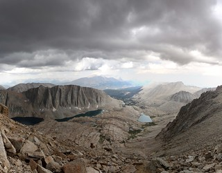1673 View west down to Guitar Lake from the John Muir Trail just south of Mount Whitney   by _JFR_
