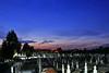 Abenddämmerung auf dem Neugässer Friedhof