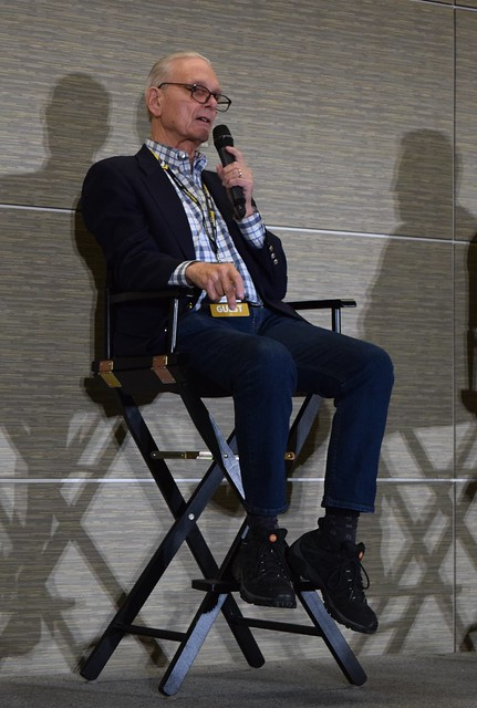 Keir Dullea on stage at Fan Expo Boston 2018