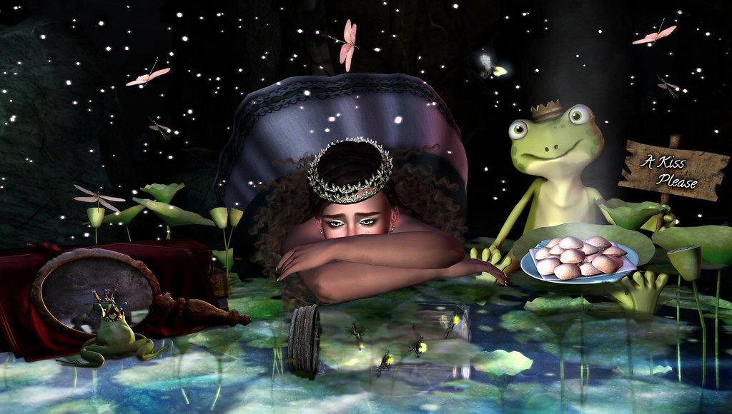 The Frog Prince...So What now?.I reckon you want a Kiss...Music inspired Art...Teddiebear Spearsong {Contest Entry}