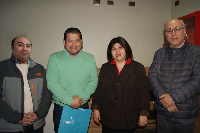 Sebastián Pineda, Fernando Orellana, Marianela Orrego y Wilson Martínez