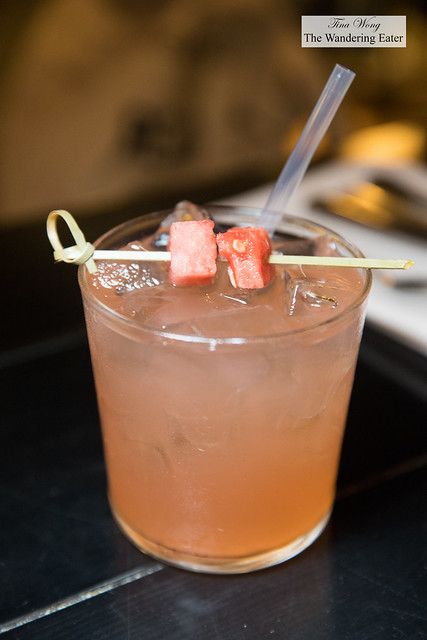 Watermelon & Strawberry Sangria - White Wine, Fresh Squeezed Watermelon Juice, Strawberry Giffard Liqueur, Lemon Juice