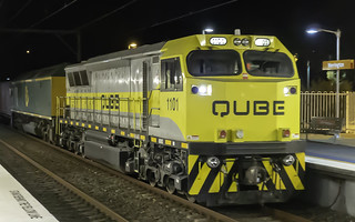 QUBE Logistics loco 1101, with RL303, seen here hauling run 1811 tonight | by Paul Leader - Paulie's Time Off Photography