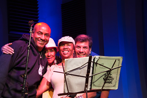 Charmaine Neville with Damond Jacob, Dee Lindsey, and Jorge Fuentes on July 31, 2018. Photo by Michael E. McAndrew.