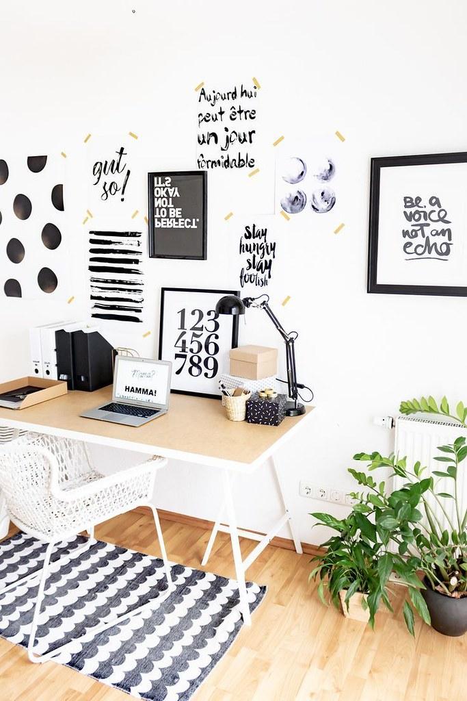 Diy Home : Arbeiten im Homeoffice: Kleines Arbeitszimmer skandinavisch einrichten: Ideen f&