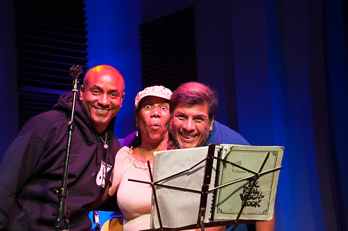 Charmaine Neville with Damond Jacob and Jorge Fuentes on July 31, 2018. Photo by Michael E. McAndrew.