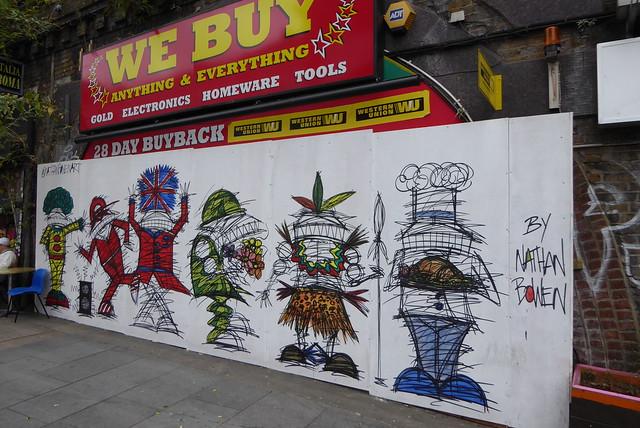 Nathan Bowen graffiti, Brixton