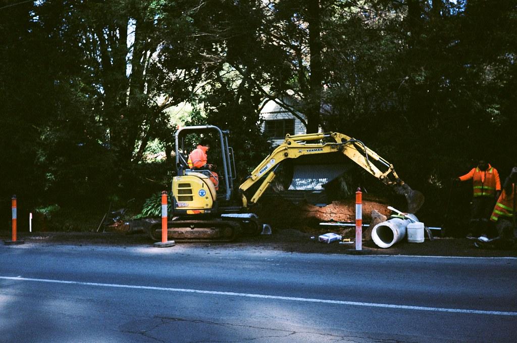 Yanmar mini-excavator | Photographed using the Kodak VR35 K4