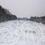 Wenn Schnee liegt, kann man im Gleispark Frintrop noch erkennen, wo einst die Schienen verliefen