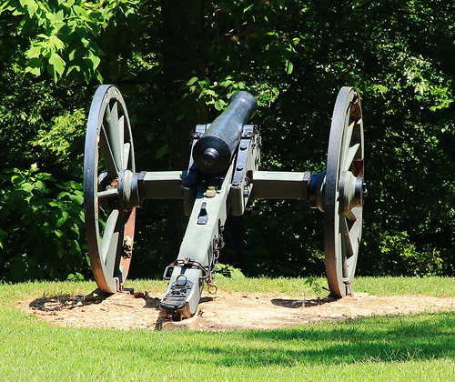 Civil War Cannon,  Prairie Grove Battlefield State Park - Washington County, Arkansas