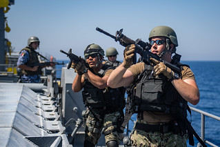 USS Jason Dunham conducts a VBSS training with Egyptian Naval Force during Eagle Salute 18. | by Official U.S. Navy Imagery