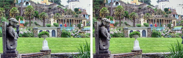 3D Bristol Colonnade and Central Piazza, Portmeirion