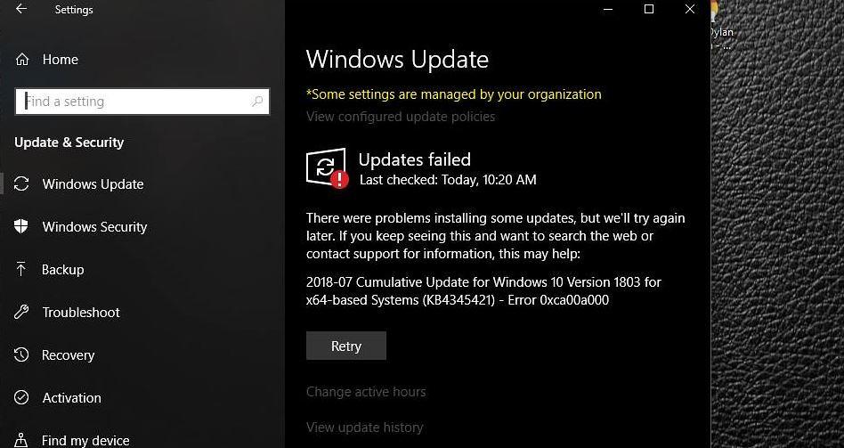 Ca  30 Resultater: Cumulative Update Failed To Install Windows 10