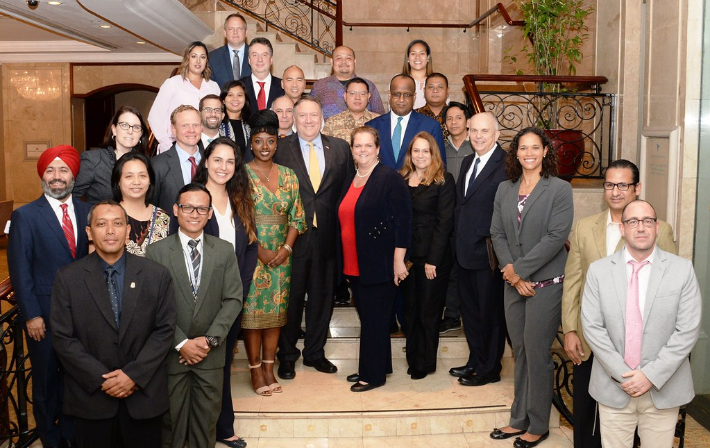 Secretary Pompeo and Staff of U S  Embassy Indonesia | Flickr