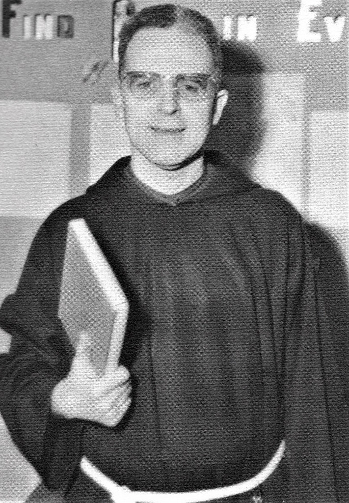 Father Barnabas Keck, OFM Cap teaching Religion in 1968 at
