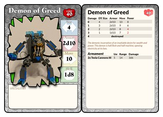 Demon of Greed Statcard | by FlamerShaftglutton