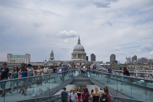 Millennium Bridge and St Paul's Cathedral | by jenny_guo