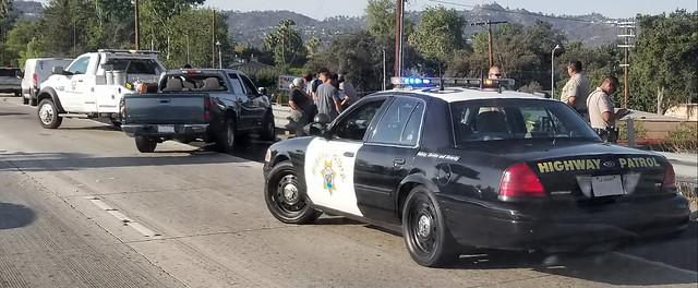 Freeway collision