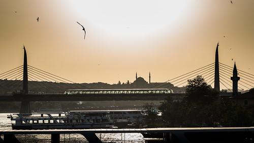 2016 24120mm d750 goldenhorn haliç nikon birds boat bridge mosque silhouettes sky sun towers istanbul cityscape 169
