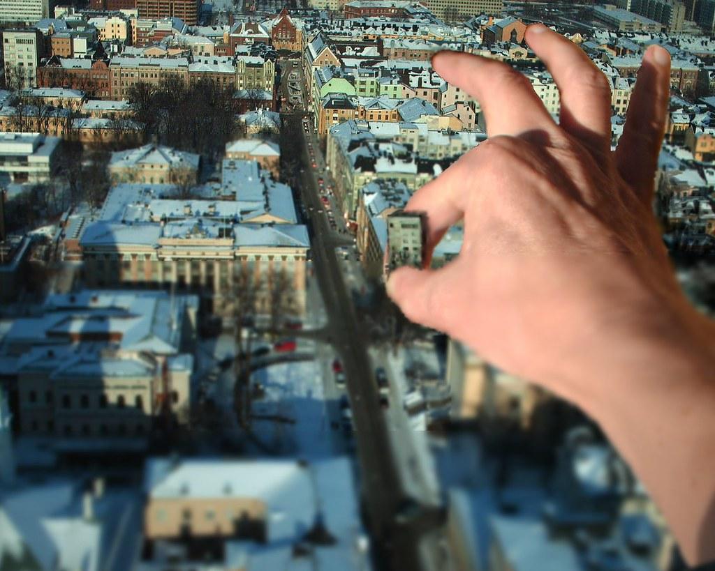 Building Fake Miniature Kite Aerial Helsinki