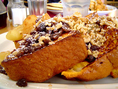 left side of French toast plate