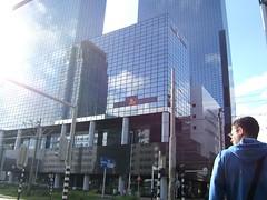 Rotterdam building reflection