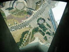 straight down 342 m (1,122 ft)
