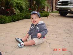 Drewbie in the driveway