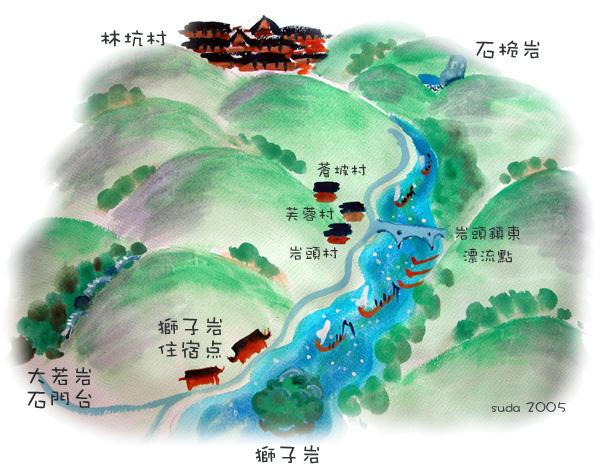 楠溪江地图