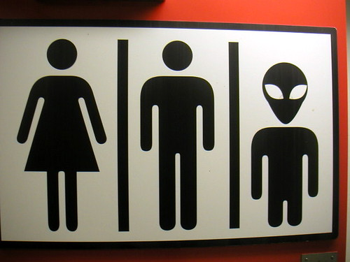 Uni-race Restroom sign | by Davezilla was taken