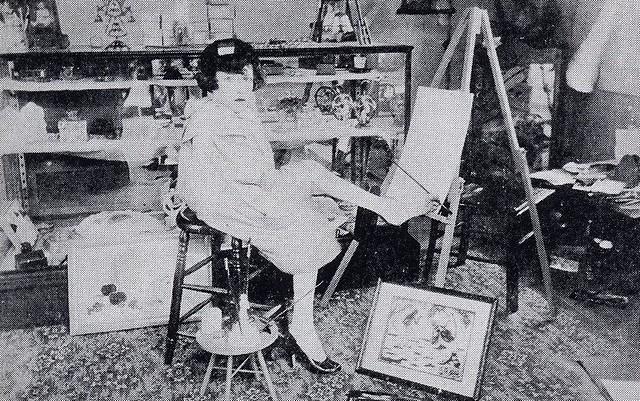 Mary Belle de Vargas in her studio