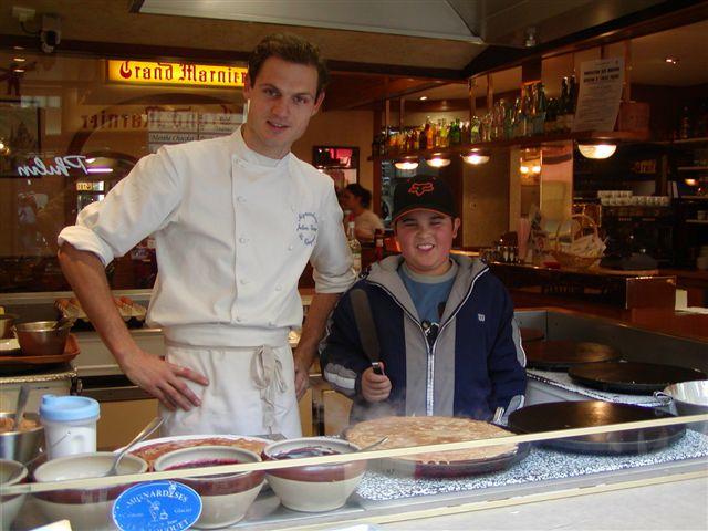 Wyatt as a Crepe Chef