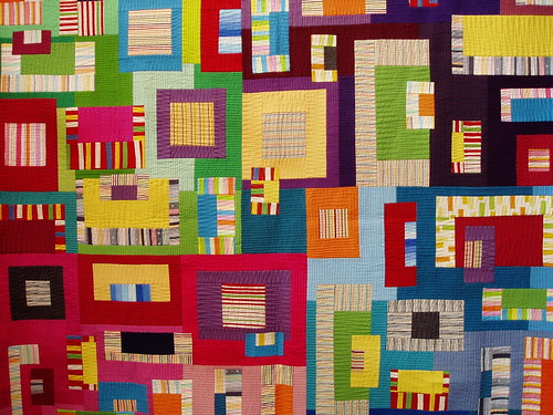 Tokyo International Quilt Show - Geometric brights | by suzy @ floating world