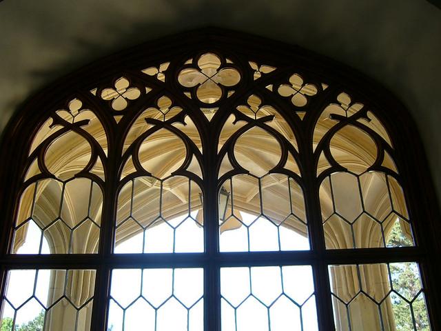 Through a window, Lednice castle